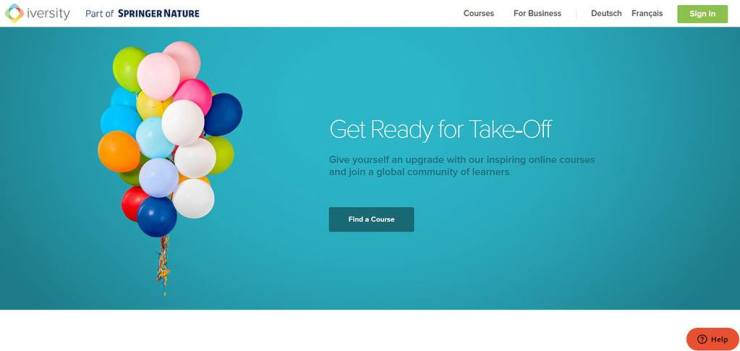 screenshot of Iversity online courses