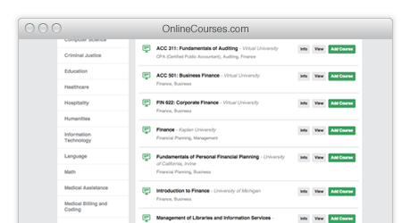 Online education courses