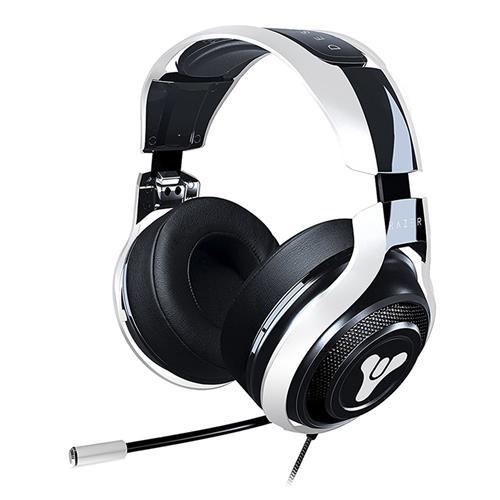 Razer Man O'War Tournament Edition Destiny 2 Edition Gaming Headset with Mic Noise Isolating Analog – Black + White