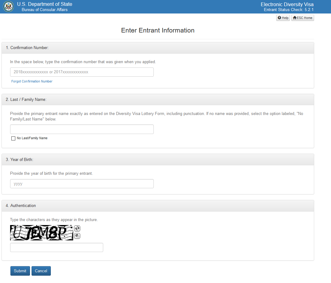 Entrant Status Check >> American Diversity Visa Dv Lottery Entrant Status Checker Here