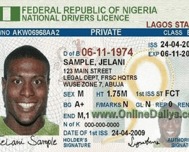 Nigeria Driver's Licence Renewal