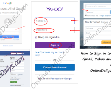 How to Sign in to Facebook, Gmail, Yahoo and Twitter