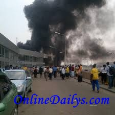 Murtala Muhammed International Airport fire outbreak photo