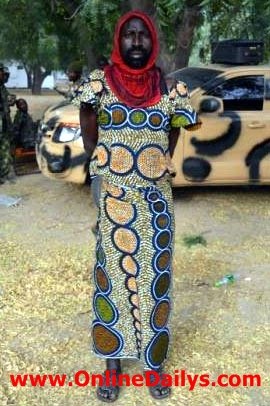 The arrested suspected terrorist who disguising as women