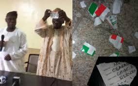 Obasanjo (OBJ) tore his PDP membership