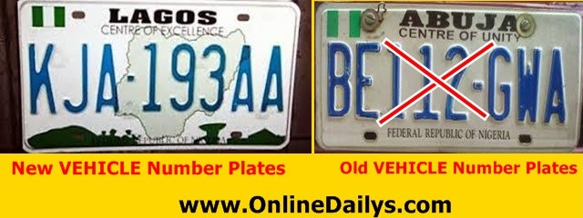 New VEHICLE Number Plates