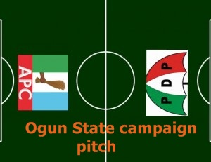 Ogun State  pdp vs apc campaign             pitch