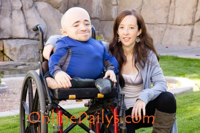 Shortest Man in the World and his wife
