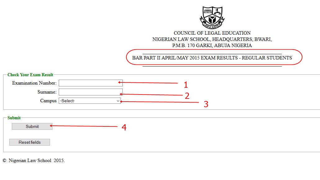 Check Final Bar Part II APRIL/MAY 2015 Exams Result here