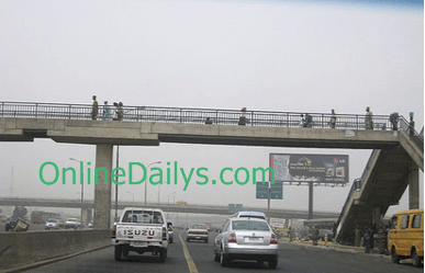 arrested for crossing expressway in Lagos State, for not using the pedestrian bridges
