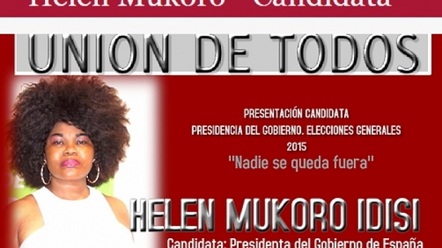 Helen Mukoro Idisi political party poster