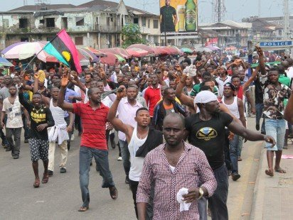 Indigenous People of Biafra protested in 3 states yesterday