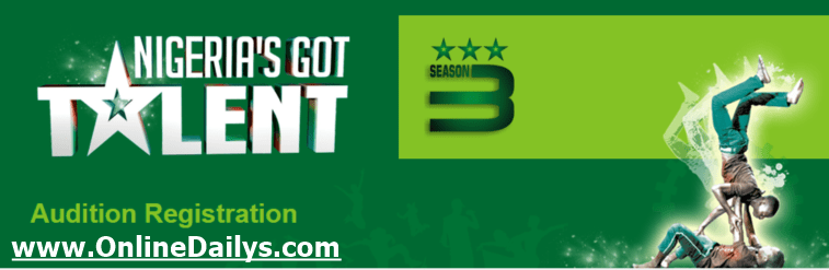Banner - Nigeria's Got Talent Session 3 Audition Registration Form