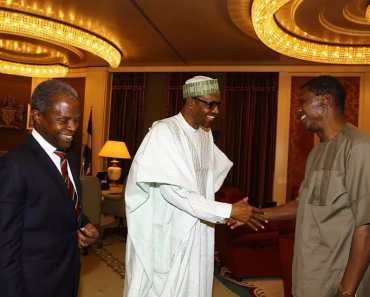 PHOTOS as Pastor Adeboye visits President Buhari 2