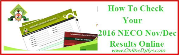 NECO Nov / Dec 2015 Examination Result