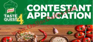 2016 Knorr Taste Quest Season 4 Audition