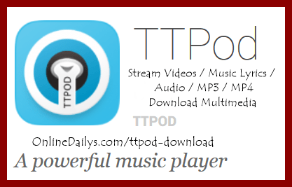 Download TTPod APK music player for Android, iPhone, BB,