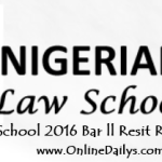 Nigerian Law School 2016 Bar ll Resit Result is Out – Check here