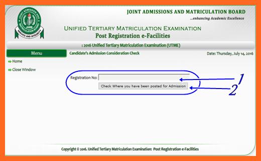 Check JAMB Admission Consideration Status