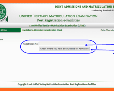 Check JAMB Admission Consideration Status