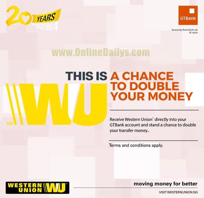 GTBank Western Union Double Funds Promo 2016