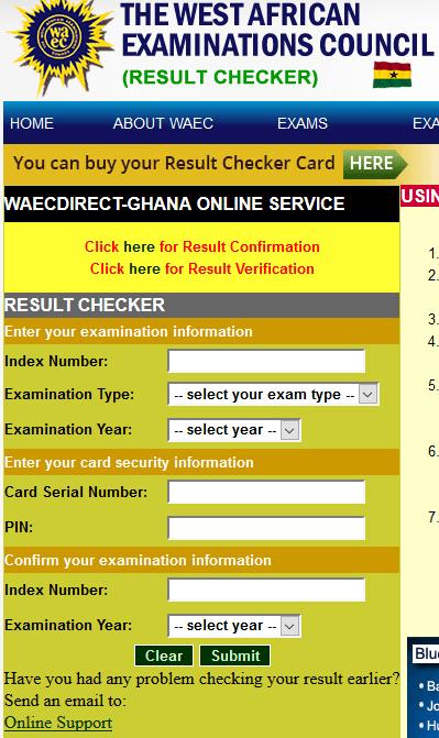 Ghana WAEC Result Checker