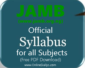 JAMB review Syllabus
