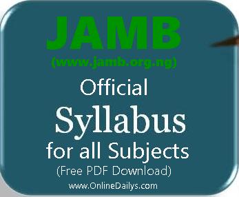 JAMB review Syllabus