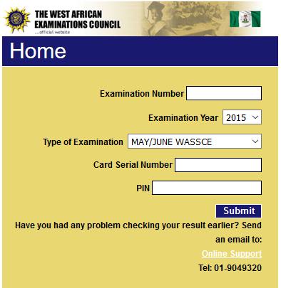 WAEC SSCE Result Checker 2016