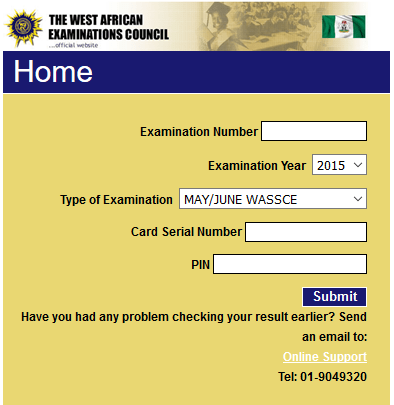 WAEC SSCE Result Checker 2016