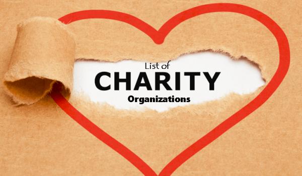 List of Charity Organizations