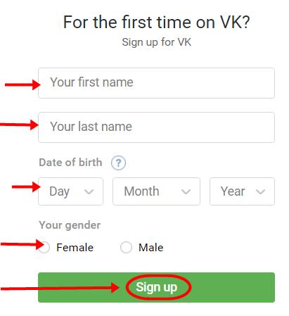 VKontakte Account Registration