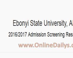 How to Check EBSU 2016/2017 Result