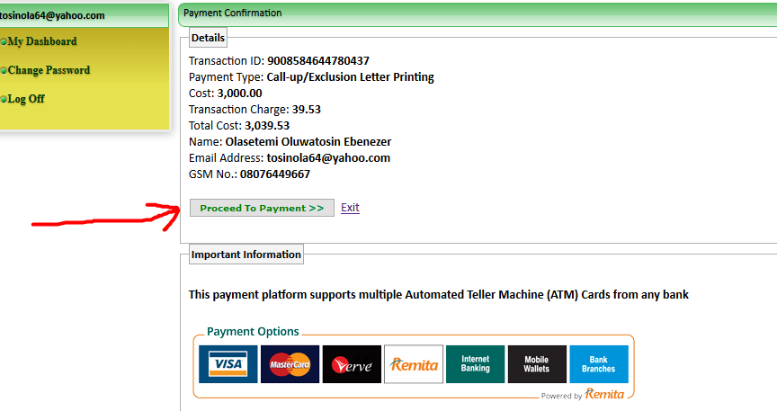How to Make NYSC Online Payment - ONLINE DAILYS