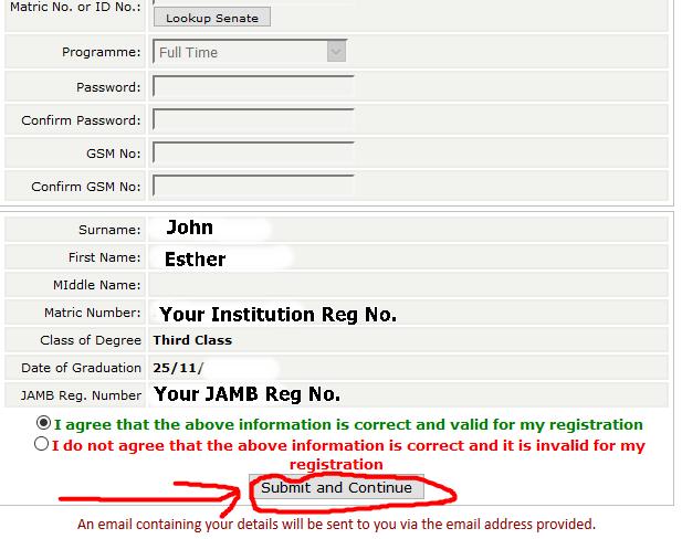 NYSC Online Registration form 2
