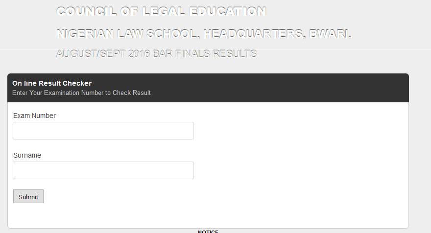 Nigerian Law School Portal
