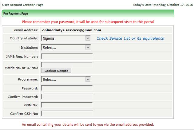 online registration form 1
