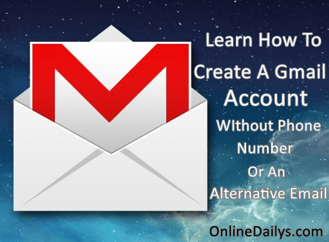 how to create a gmail account without a current email