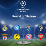 Champions League Round Of 16 Draws | Arsenal Draws Bayern Munich