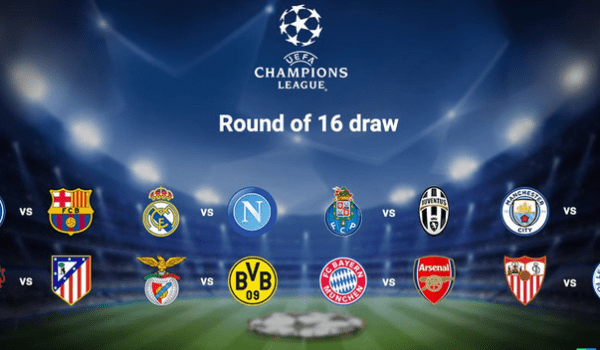 Champions League Round Of 16 Draws