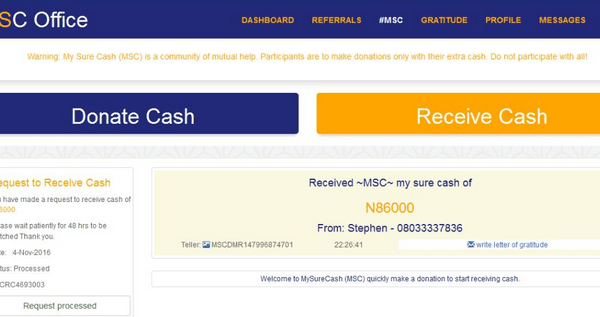 Earn 50% In A Month With My Sure Cash