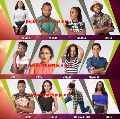 We wish to bring to your knowledge the full list of Big Brother Naija House Mates. As most of us are aware, the big brother Naija kick started on Sunday, January 22nd. Efe: Efe is a graduate of Economics. He enjoys cooking. He is resides in Lagos state, Nigeria. Gifty: Gifty schooled in Ghana, but is back to Lagos. She is a Nollywood actress. Her mum is her inspiration. CoCoice: She lost her mother in 2001 and has since then had a great relationship with her brother. She has had many challenges in her many romantic relationships. She is currently single. Searching? Kemen: Kemen was a ship manager. He left it and turned to a fitness coach. He currently resides in Portharcourt. Miyonse: Being the last born of the house, the mum made sure he learnt how to cook. Hetook to cooking eagerly. He is currently a head chef. Bally: Bally is a statistician who has plans to own digital content creation company. He has four siblings, and also a girlfriend who is a lawyer. He lives in Lagos Bisola: Bisola for short and Abisola in full considers herself a spoilt child until when her family had a major challenge. She moved to the village and started petty trading on cosmetics. Marvis: A royalty, she is the 11th child of 21 children. She is also a graduate of Mass Communication. Uriel: She says she loves to cook but hates cleaning up after cooking. Born in England, she was sent to Nigeria not long after her birth. She has four brothers. Soma: Soma is a son of a Pastor and Musician. He is also a good singer. His mum encouraged him to go into music. TBoss: TBoss began her studies in UNILAG but only lasted for 9 months. She completed her studies in Romania. She had a very strict and tough dad and a sweet, soft spoken mother. ThinTallTony: Thin Tall Tony performed in Big Brother Nigeria's first edition. He is a choreographer. He also writes acts, and is into poetry.