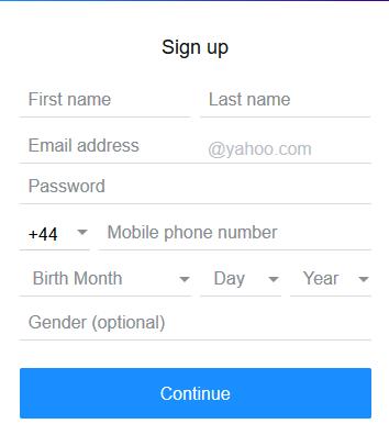 Logo: Online Yahoo Registration
