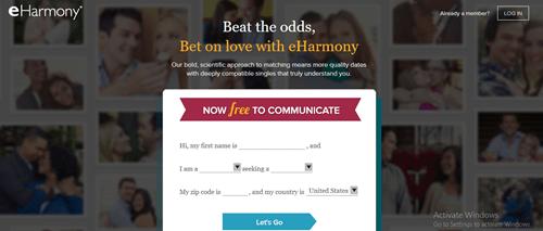 Homepage: eHarmony