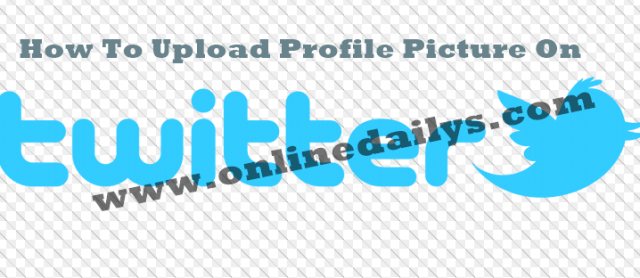 How To Upload Twitter Profile Picture