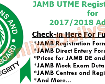 Logo: JAMB UTME Registration Form for 2017/2018