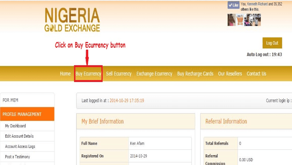 How To Buy Top E-Currencies From NigeriaGoldExchange
