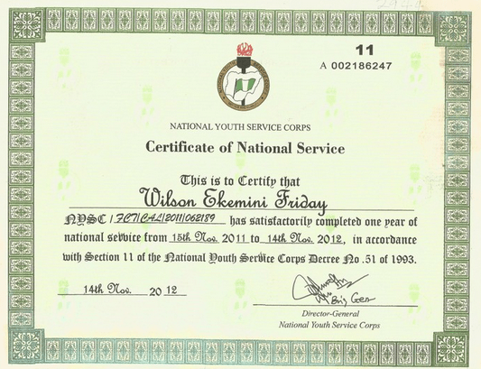 How To Verify NYSC Certificate Of National Service