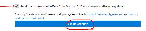 Image: Outlook Mail Registration form 4