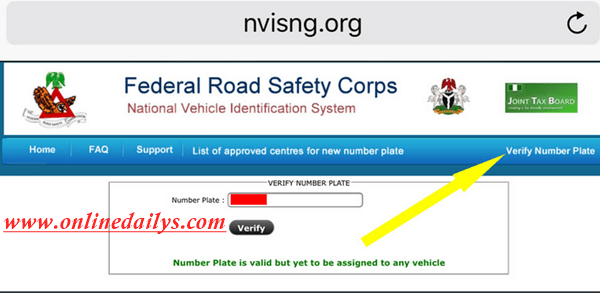 Check car plate number in nigeria